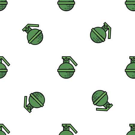 ww2: Bomb flat icon pattern. Military equipment icons. Vector illustration. Elements for design.