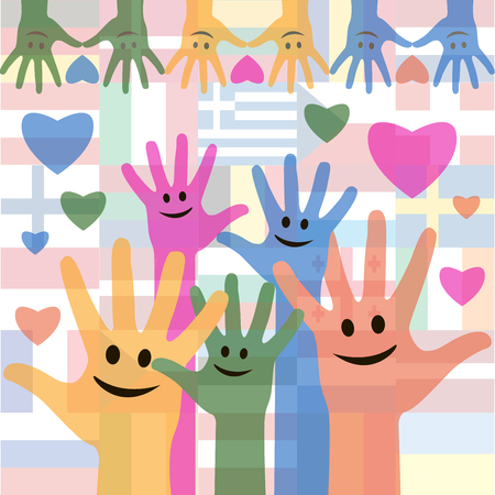 Happy Friendship day vector typographic colorful design. Usable as friendship day greeting cards, posters. Best friends forever. Illustration