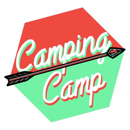 wilderness: Camping Label. Vintage camp explorer badge. Outdoor adventure logo design. Wilderness emblem and stamp. Vector.