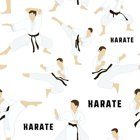 applicable: Karate set pattern. Applicable to Karate and Taekwondo. Illustration