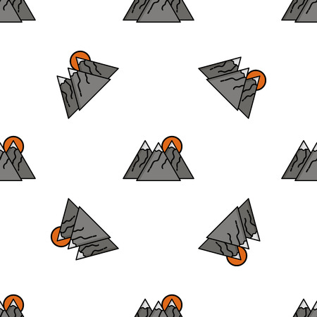 bloodhound: Hunting icon pattern. Flat style. Vector illustration Illustration