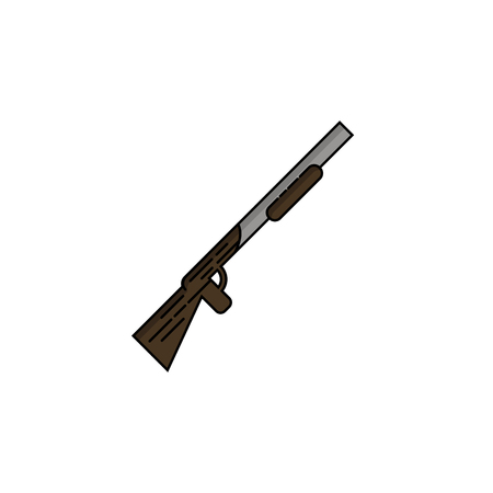 Hunting icon. Rifle. Flat style Vector illustration