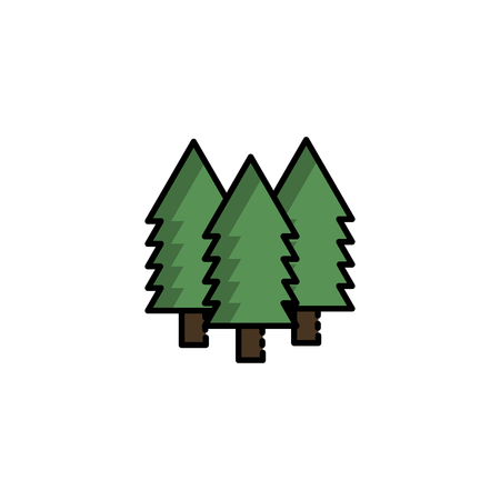 Hunting icon. Forest. Flat style Vector illustration