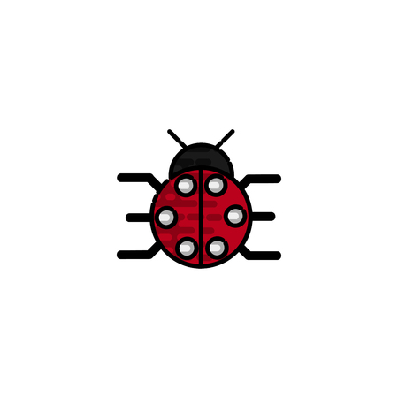 Insects flat icon for design. Vector illustration