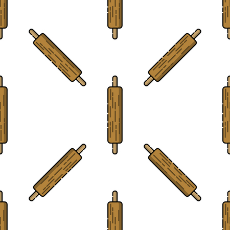 Kitchen icon pattern. Kitchen items in flat style.