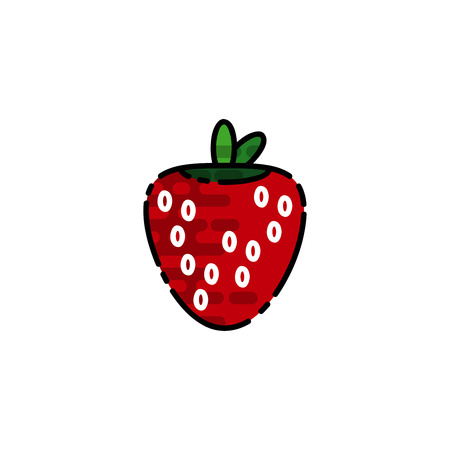 Allergy flat icon. Disease state, watering, allergy to fruits, the appearance of red spots and other. Vector illustration Illustration