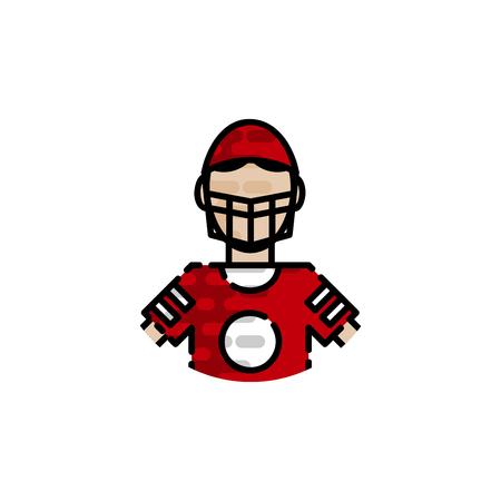American football flat icons set. Sport symbol. Vector illustration, Illustration