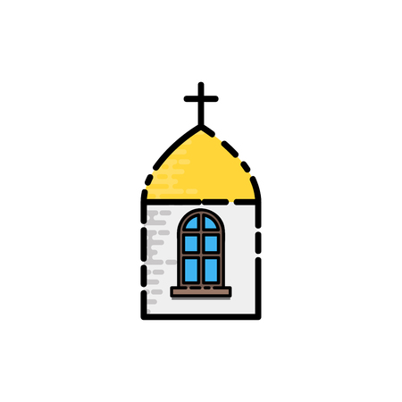 baptismal: Christianity flat icon on a white background for design. Vector illustration