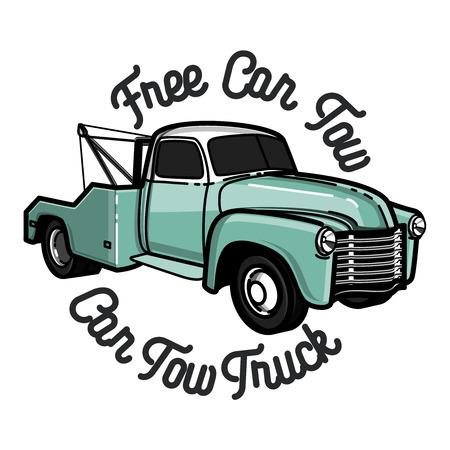 Uitstekende auto-vrachtwagenembleem, label en designelementen