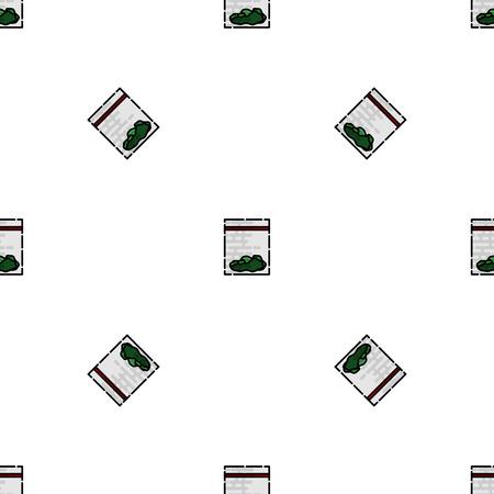 bong: Drugs flat pattern. Medical background. Vector illustration