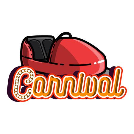 coaster: Color vintage Amusement park emblem. Vector illustration