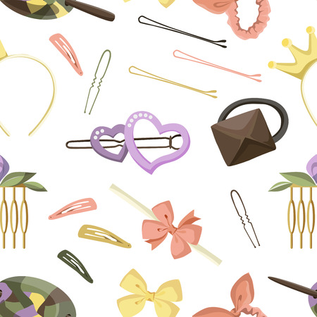 hairpin: Hair Accessories Object Set pattern, Headband, Comb Hairpin Elastic