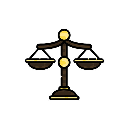 Law flat icon. System of rules. Vector illustration