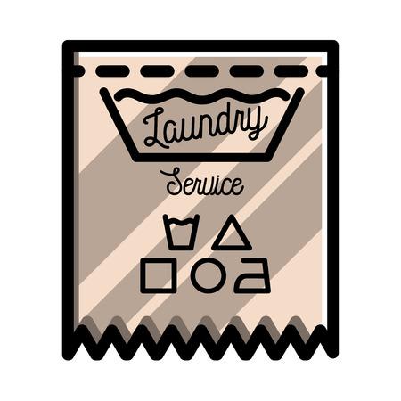 Color Vintage Laundry Emblem For Your Design Vector Illustration