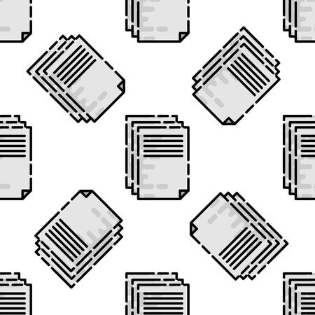offset printer: Polygraphy flat pattern. All of Print. Vector illustration Illustration