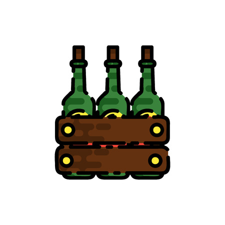 Wine flat icon for your design. Wine tasting. Vector illustration