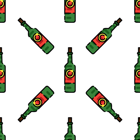 Wine flat pattern for your design. Wine tasting. Vector illustration