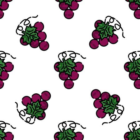 uncork: Wine flat pattern for your design. Wine tasting. Vector illustration