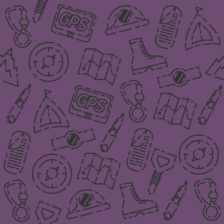 mountaineering: Mountaineering set pattern - creative vector background. Different colors variations. Mountaineering concept layout.