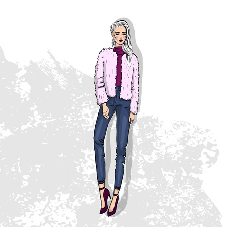 High trendy color look Illustration