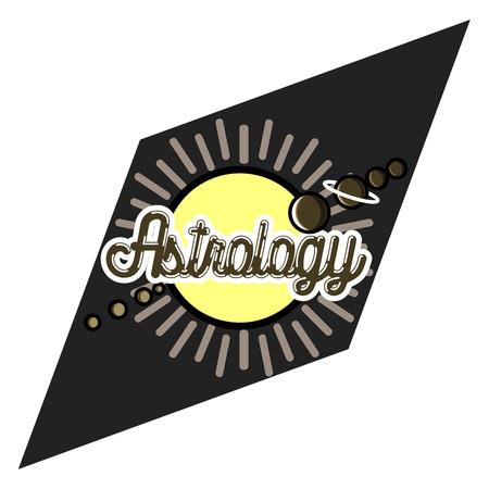 augury: Color vintage astrology emblem Illustration