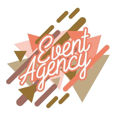 Color vintage event agency emblem