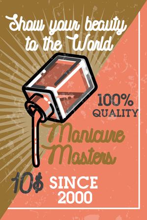 vintage: Color vintage manicure banner
