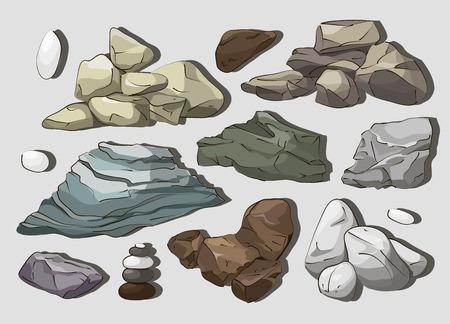 cobble: Rocks and stones elements
