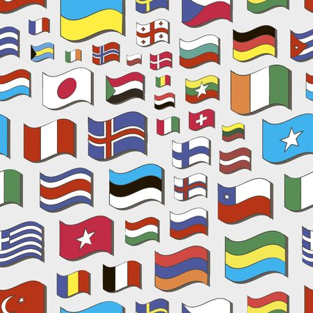 world flags: Set of world flags pattern
