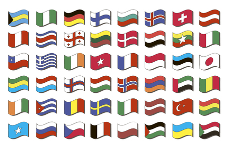 world flags: Set of world flags Stock Photo