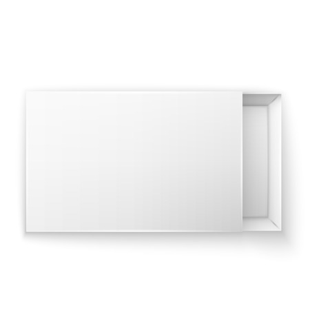 Blank empty white paper packaging Stock Illustratie
