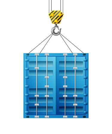 levantar peso: Cargo gancho de la grúa