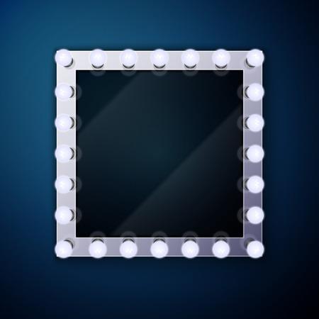 Make up mirror with light bulbs