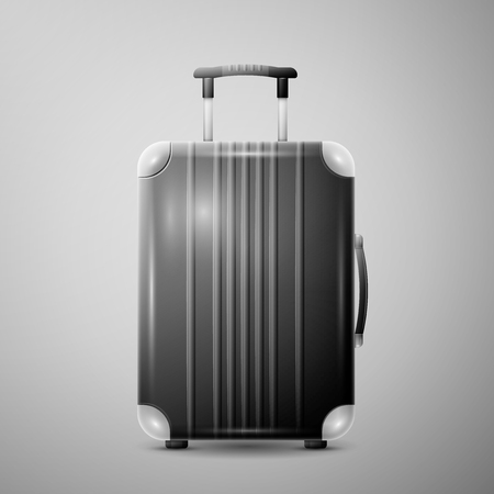 polycarbonate: Large polycarbonate suitcase Illustration