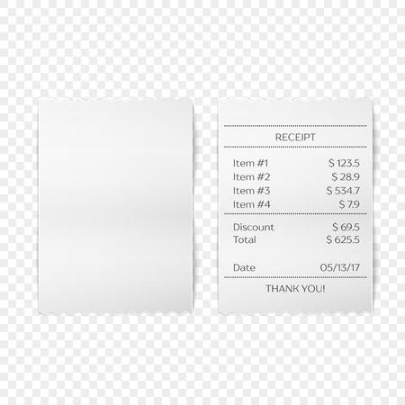 Printed receipt vector