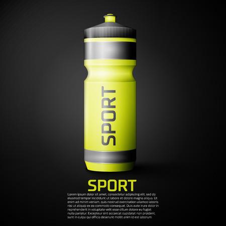 SHAKER: Sport nutrition drink bottle for fitness. Shaker bottle for gym bodybuilding.