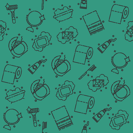 personal hygiene: Personal hygiene icons pattern