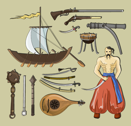 Vector set of Cossacks objects
