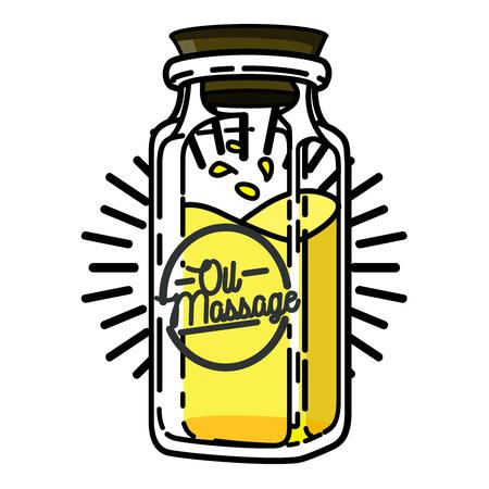health resort: Color vintage massage salon emblem Illustration