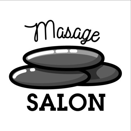 Color vintage massage salon emblem Иллюстрация
