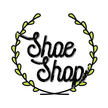 Color vintage shoe shop emblem