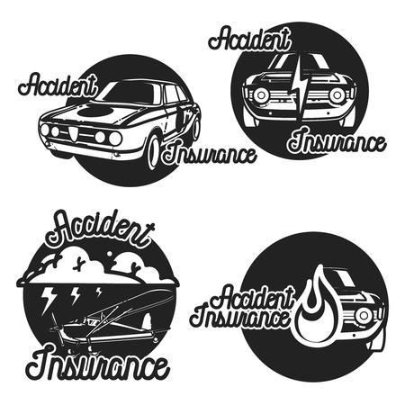 peace stamp: Vintage accident insurence emblems