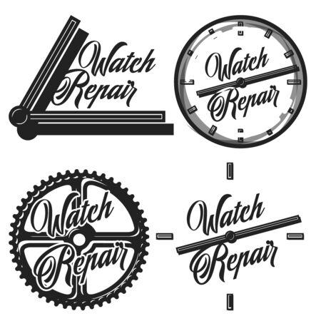 Color vintage watch repair emblems