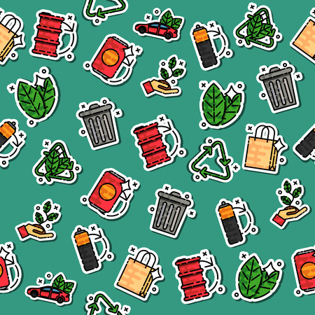 recycling: Colored recycling pattern