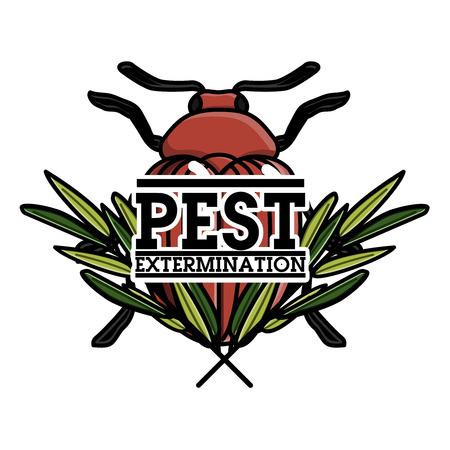 Color vintage pest extermination banner
