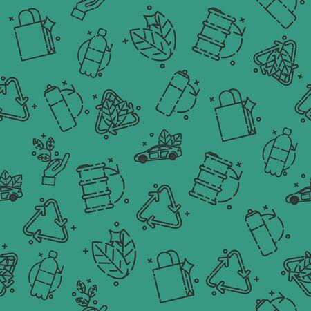 recycling: Recycling set pattern Illustration