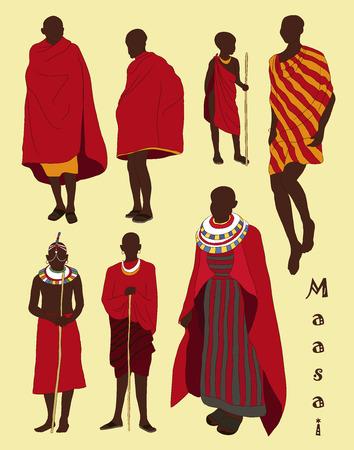 Masai par de personas africanas