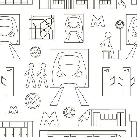 Metro symbols pattern.