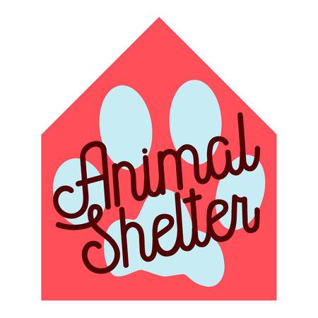 Color vintage animal shelter emblem