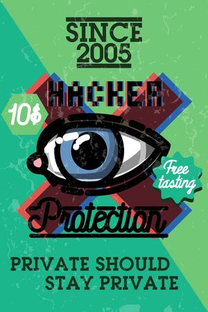 locksmith: Color vintage hacker protecrion banner
